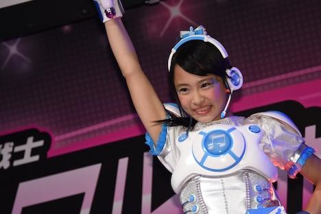 テレビシリーズ「アイドル×戦士 ミラクルちゅーんず!」橘フウカ役の小田柚葉。