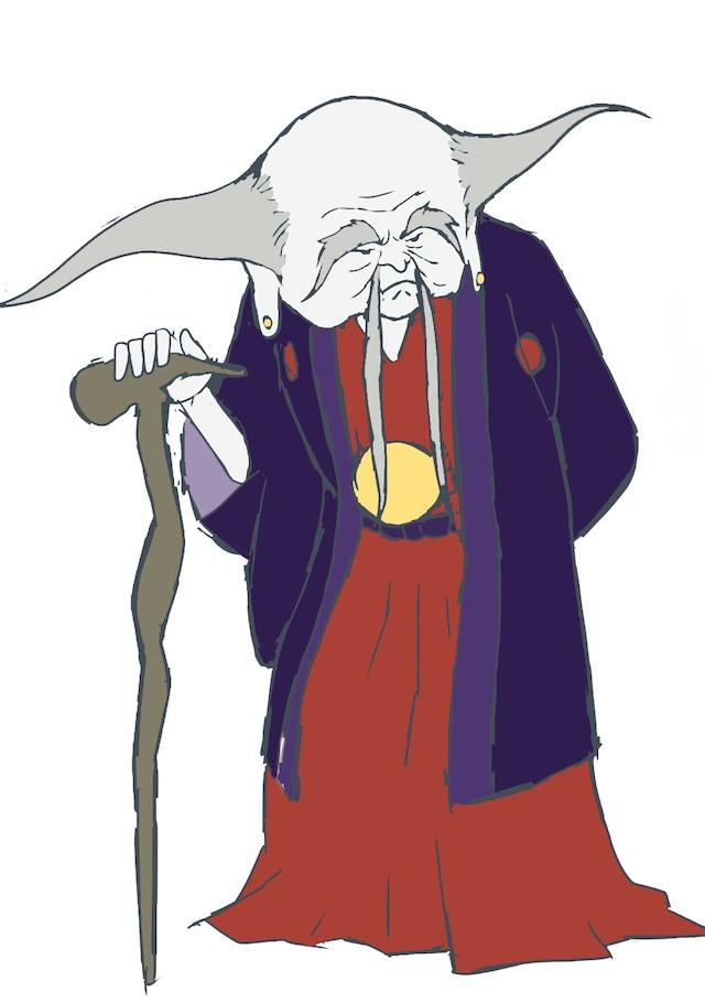 """麦人演じる""""李白さん""""のキャラクター画像。"""