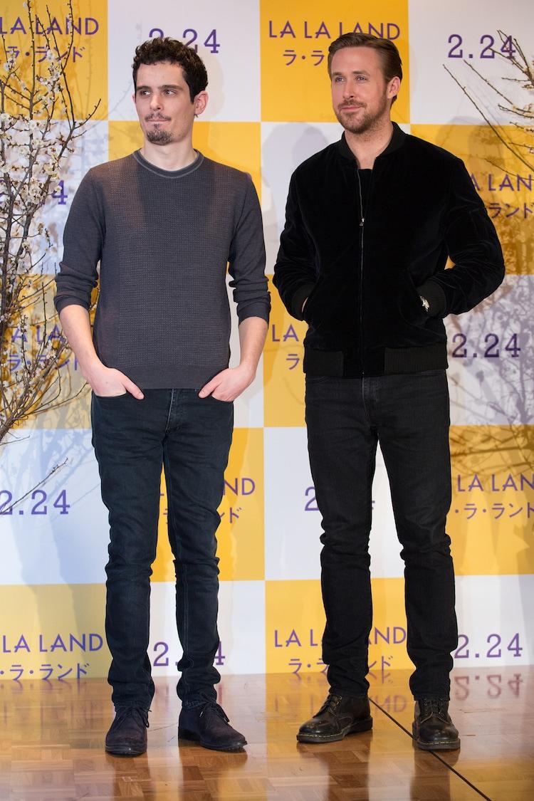 左からデイミアン・チャゼル、ライアン・ゴズリング。