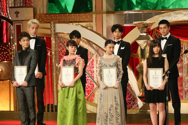 日本アカデミー賞新人賞受賞者たち。