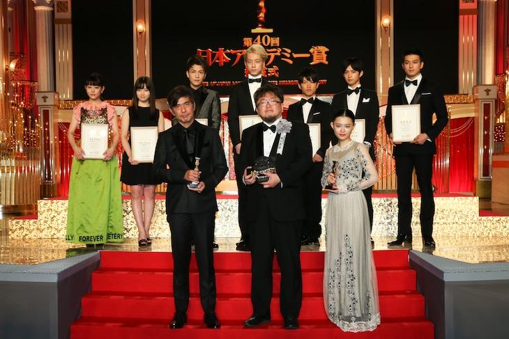 第40回日本アカデミー賞の受賞者たち。