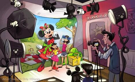 「ミニーのスタイルスタジオ」のイメージ図。