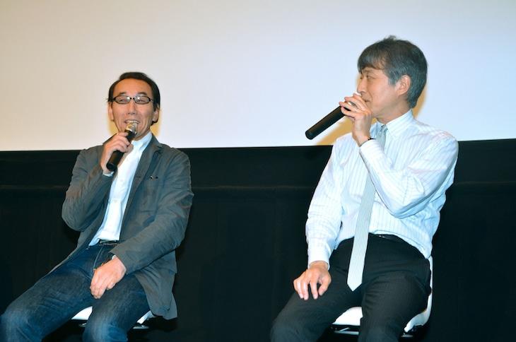 左から金田治、白倉伸一郎。