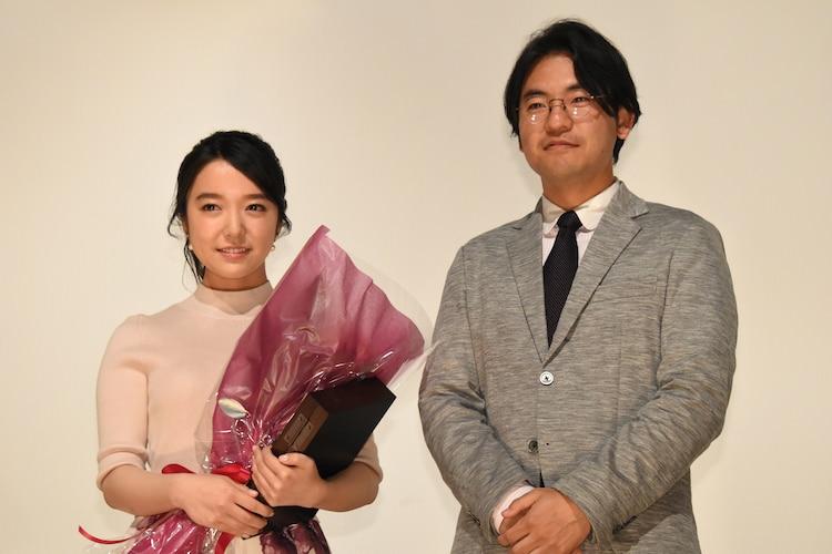 左から上白石萌音、「ちはやふる」2部作監督の小泉徳宏。