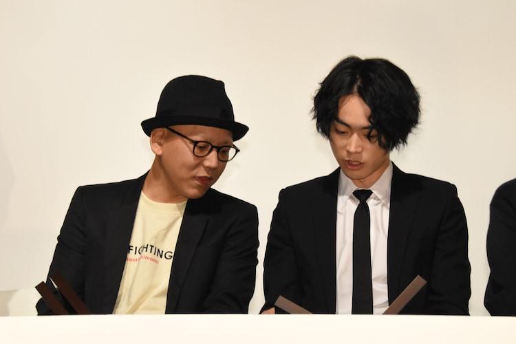 左から「ディストラクション・ベイビーズ」監督の真利子哲也、菅田将暉。