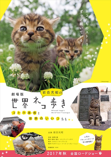 「劇場版 岩合光昭の世界ネコ歩き コトラ家族と世界のいいコたち」