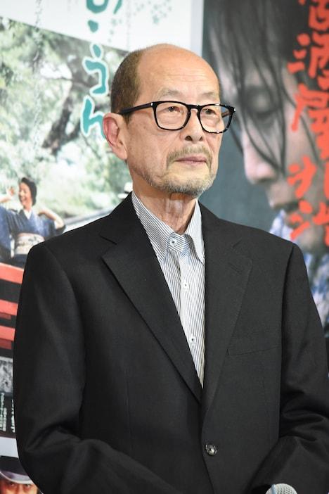 2017年5月4日、「追憶」の公開直前イベントでの降旗康男。