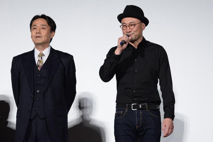 左から小木茂光、内田英治監督。