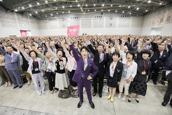 「花戦さ」イベントの様子。中央が野村萬斎。
