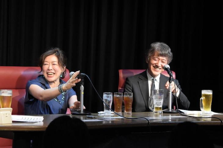 左から小林靖子、白倉伸一郎。