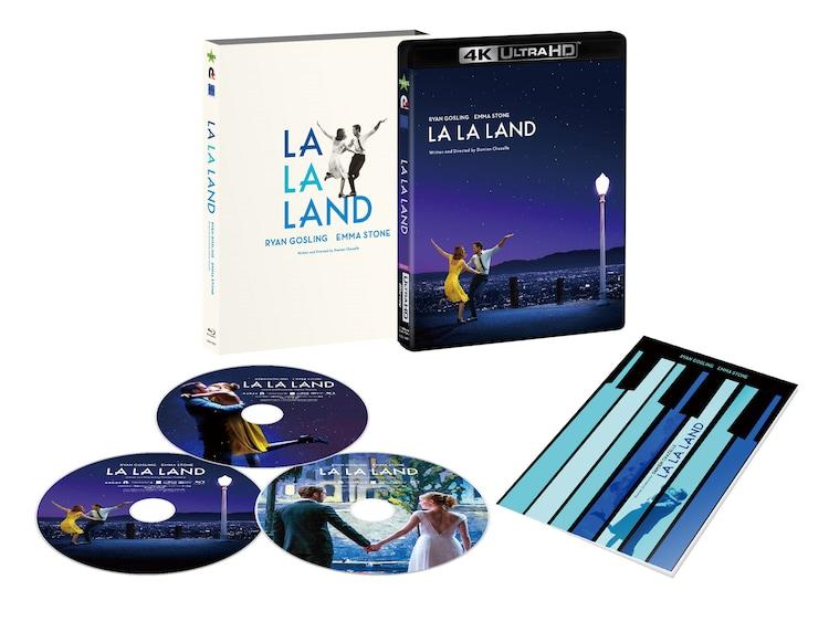 「ラ・ラ・ランド」4K Ultra HD Blu-ray+Blu-ray2枚組の展開図。