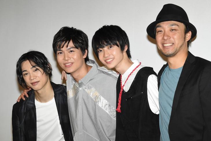 左から三津谷亮、多和田秀弥、小野寺晃良、監督の上條大輔。