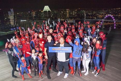 「スパイダーマン:ホームカミング」シンガポールファンイベントの様子。