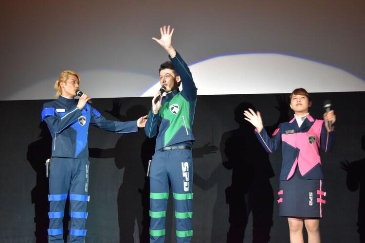 左から林剛史、伊藤陽佑、菊地美香。