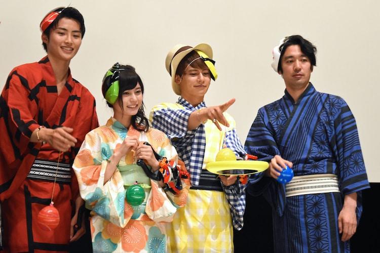 左から岐洲匠、大久保桜子、榊原徹士、柴崎貴行。