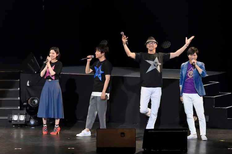 左からM・A・O、中井和哉、大塚明夫、神谷浩史。