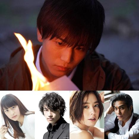 岩田剛典演じる耶雲恭介(上段)、下段左から山本美月、斎藤工、浅見れいな、北村一輝。