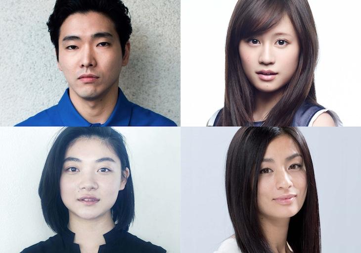 「素敵なダイナマイトスキャンダル」上段左から柄本佑、前田敦子。下段左から三浦透子、尾野真千子。