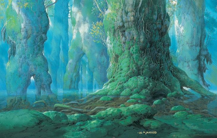「もののけ姫」《シシ神の森(5)》1997年 (c)1997 Studio Ghibli・ND