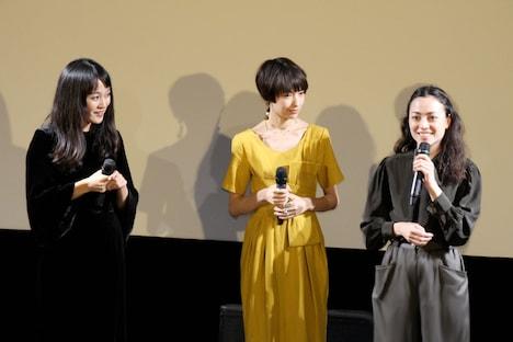 左から猪俣ユキ、太田莉菜、美波。
