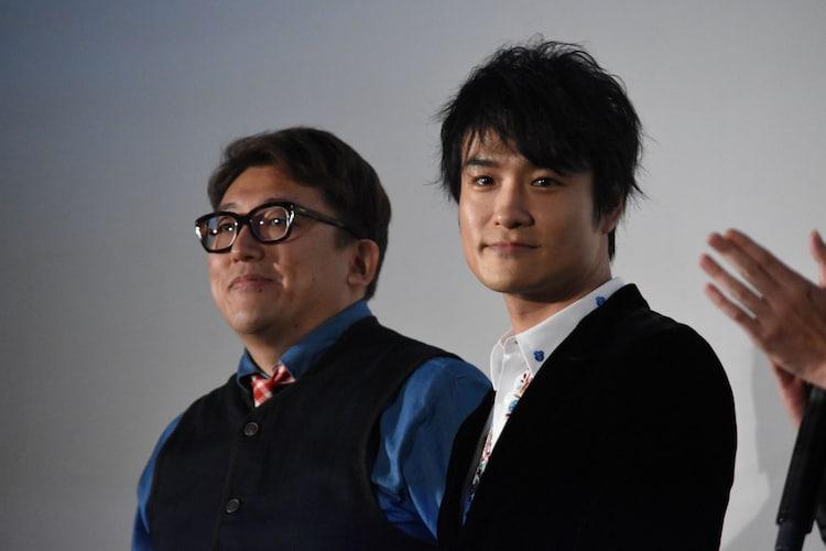 左から福田雄一、笠原秀幸。