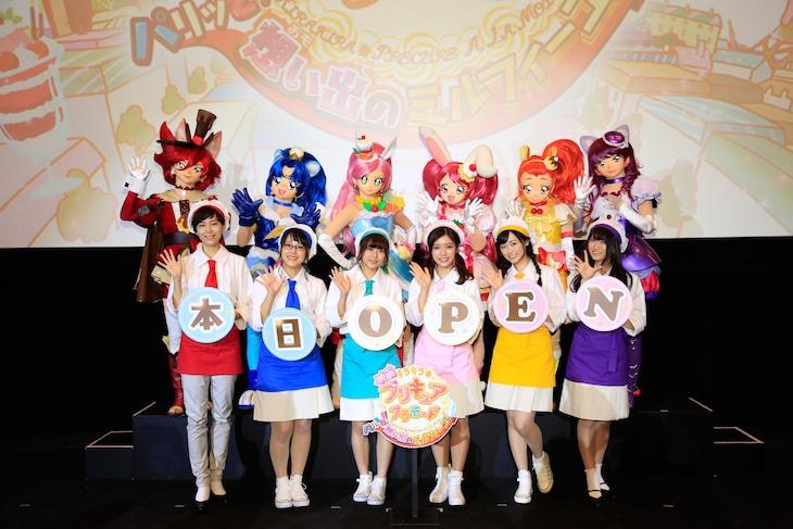 「映画キラキラ☆プリキュアアラモード パリッと!想い出のミルフィーユ!」初日舞台挨拶の様子。