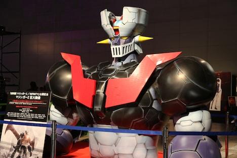 会場に展示されたマジンガーZの巨大胸像。