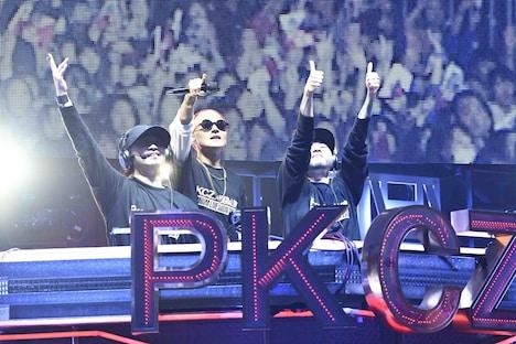 「PKCZ×HiGH&LOW 完成披露試写会&PREMIUM LIVE SHOW」11月6日公演より、PKCZ。