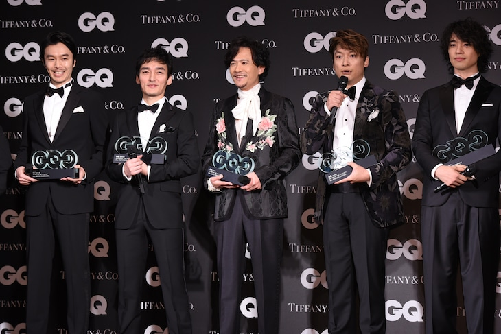 「GQ MEN OF THE YEAR 2017」授賞式の様子。