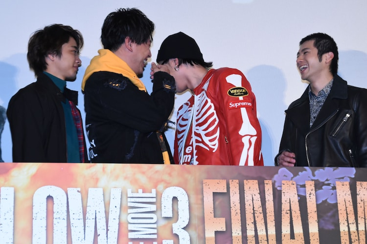 「HiGH&LOW THE MOVIE 3 / FINAL MISSION」大ヒット記念舞台挨拶の様子。