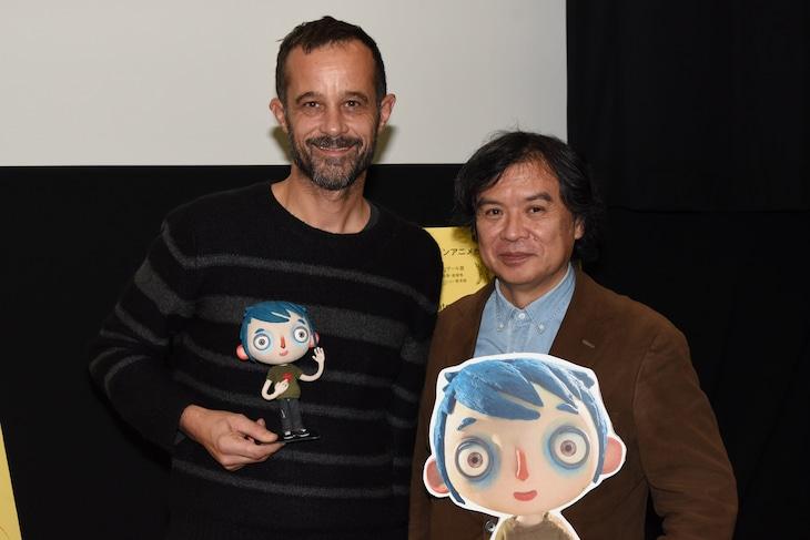 「ぼくの名前はズッキーニ」トークイベントの様子。左からクロード・バラス、片渕須直。