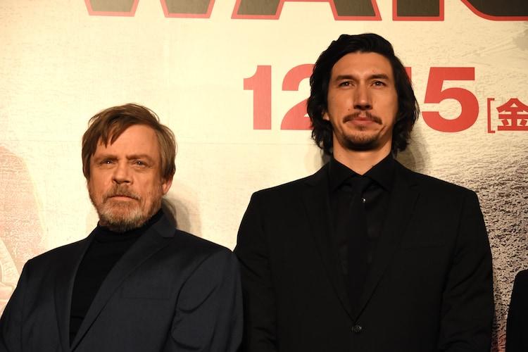 左からマーク・ハミル、アダム・ドライバー。