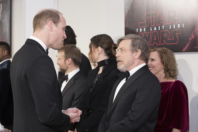 左からウィリアム王子、マーク・ハミル。
