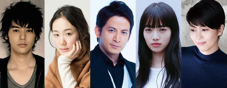 「来る」のキャスト。左から妻夫木聡、黒木華、岡田准一、小松菜奈、松たか子。