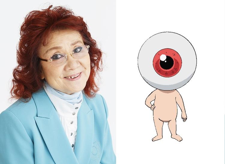 野沢雅子(左)と目玉おやじ(右)。