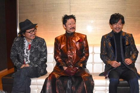 左から園子温、浅野忠信、稲垣吾郎。