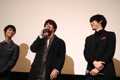 左から小原唯和、天野浩成、渡邉剣。