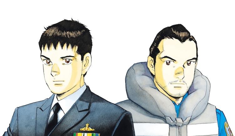 左から秋津竜太、新波歳也の原作イラスト。 (c)かわぐちかいじ・惠谷治/小学館ビッグコミック