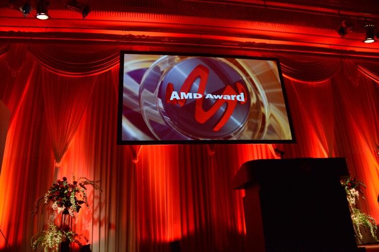 デジタル・コンテンツ・オブ・ジ・イヤー'17 / 第23回AMDアワード授賞式の様子。