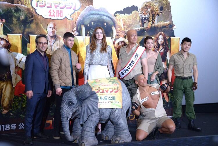 「ジュマンジ/ウェルカム・トゥ・ジャングル」イベントの様子。
