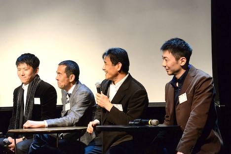 左から和田三四郎、野呂慎治、伊藤久仁康、菊地雄人。