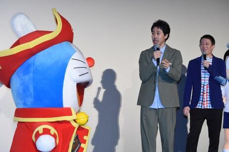 「映画ドラえもん のび太の宝島」大ヒット御礼舞台挨拶の様子。