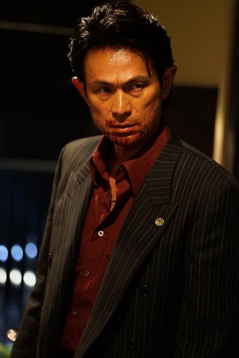 「孤狼の血」より、江口洋介演じる尾谷組若頭・一之瀬守孝。