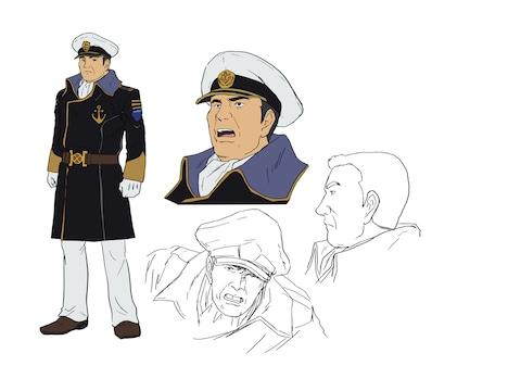安田俊太郎のキャラクター設定画。