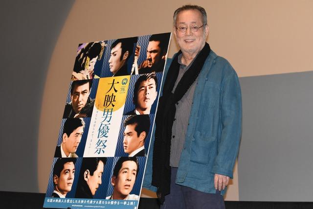 「大映男優祭」にて上映された「炎上(デジタル復元版)」の舞台挨拶に登壇した仲代達矢。