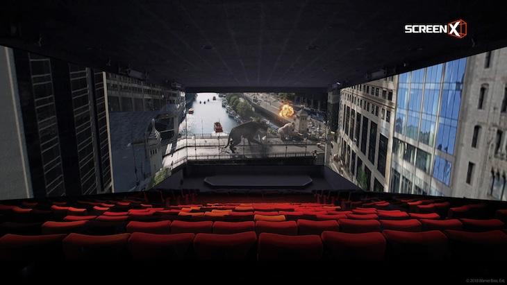 ScreenXの上映イメージ。