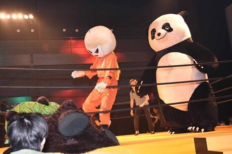 「ランペイジ 巨獣大乱闘」公開記念イベントの様子。