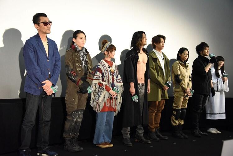 「仮面ライダーアマゾンズ THE MOVIE 最後ノ審判」4DX完成披露試写会の様子。