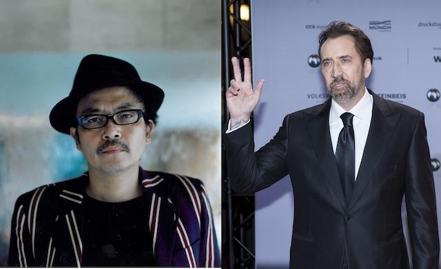 左から園子温、ニコラス・ケイジ。(写真提供:picture alliance / SvenSimon / Newscom / ゼータ イメージ)