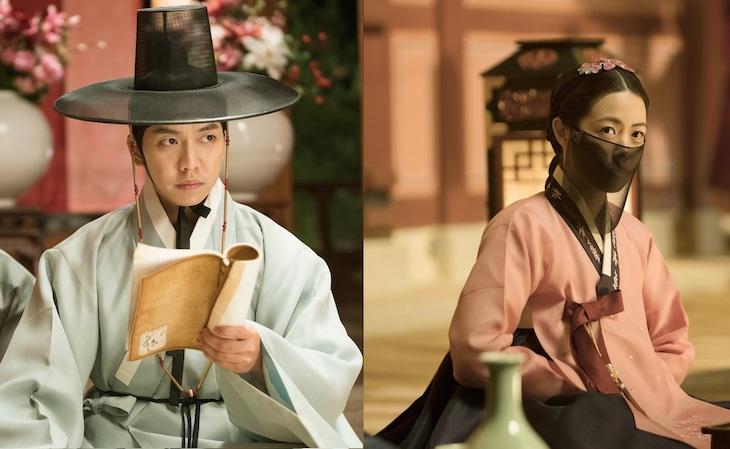左からイ・スンギ演じるソ・ドユン、シム・ウンギョン演じるソンファ。